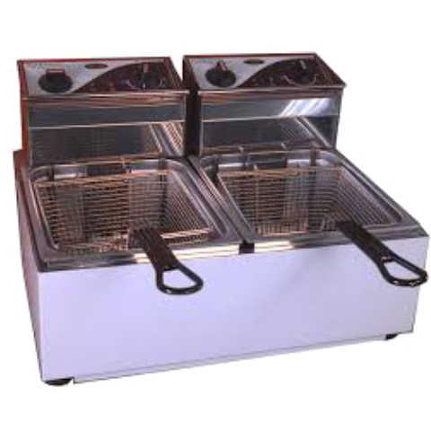 Fryer Benchtop Twin Pan Electric