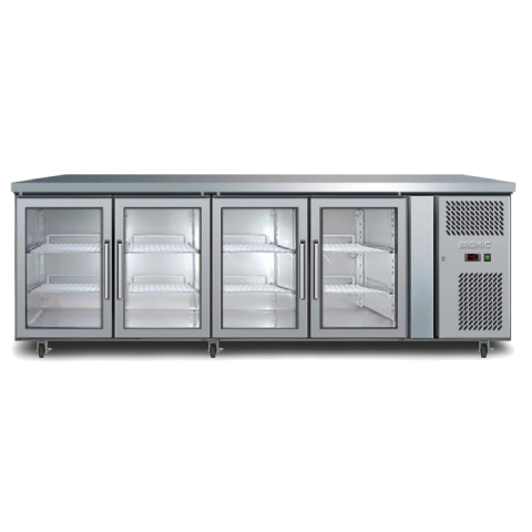 Underbar Bench Fridge Display 4 door